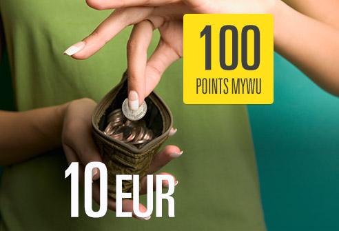 Échangez 100 points My WU – Économisez 10 EUR !