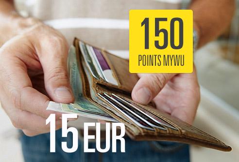 Échangez 150 points My WU – Économisez 15 EUR !
