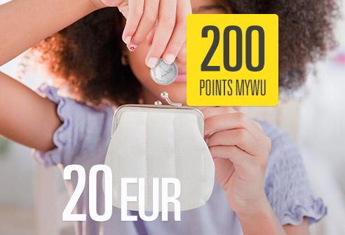 Échangez 200 points My WU – Économisez 20 EUR !