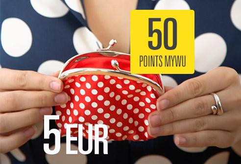 Échangez 50 points My WU – Économisez 5 EUR !