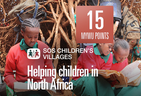 Redeem your points to support children in North Africa with SOS Children's Villages