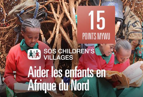 Échangez vos points afin de soutenir les enfants en Afrique du Nord avec SOS children's Villages