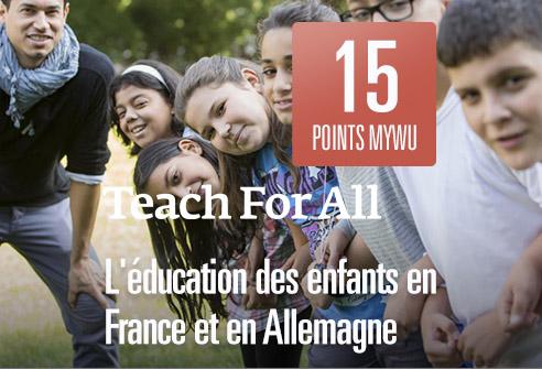 Échangez vos points afin de soutenir l'éducation des enfants en France et en Allemagne avec Teach for All