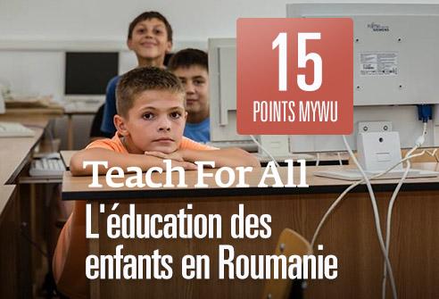 Échangez vos points afin de soutenir l'éducation des enfants en Roumanie avec Teach for All