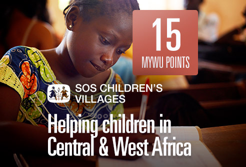 Redeem your points to support children in Central & West Africa with SOS Children's Villages