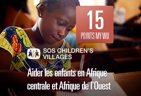 Échangez-vos points et aidez les enfants en Afrique Centrale et de l'Ouest avec SOS Children's Village