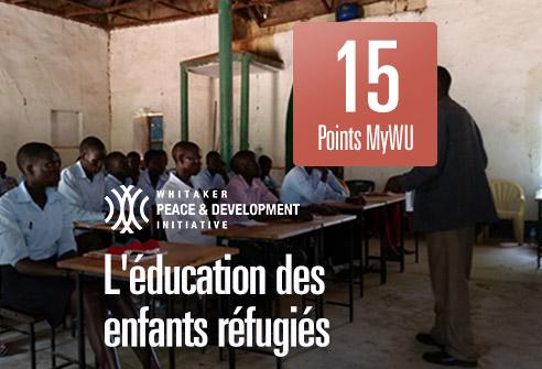 Échangez vos points pour aider l'éducation des enfants réfugiés avec WPDI