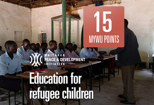 Redeem your points to support the education of refugee children with WPDI