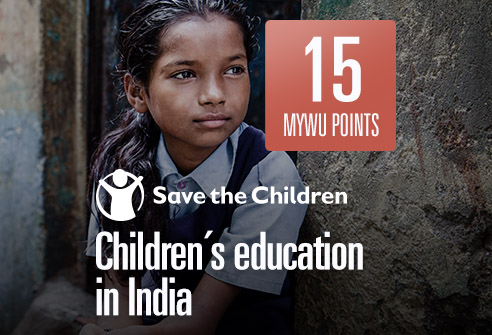 Redeem your points to support the education of children in India with Save the Children