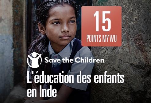 Échangez vos points pour soutenir l'éducation des enfants en Inde avec Save the Children